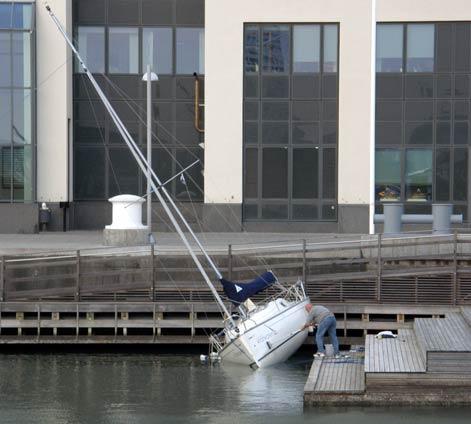 Båt-tvätt i Dockan