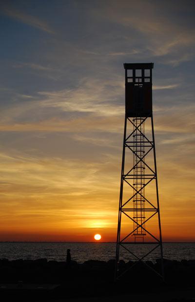 Vakttornet vid djuphavsbadet i Scaniaparken